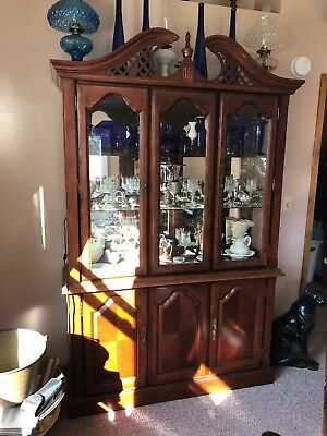 Cherry China Cabinet (lighted)