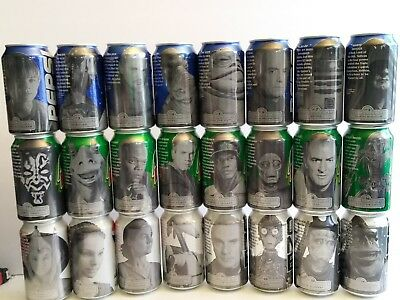 Star Wars Episode 1, The Phantom Menace Pepsi Cans 24 Empty Cans