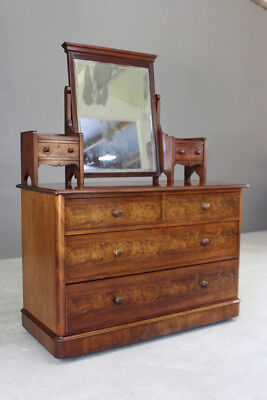 Antique Victorian Mahogany Dressing Table Chest of Drawers
