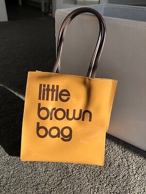 47290b41189e BLOOMINGDALES MEDIUM BROWN BAG Plastic Tote Msrp  35.00 - £7.81 ...