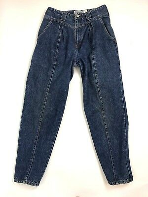 Vintage Jordache Womens High Waisted Jeans Size 12 Mom Jeans Pleated Tapered 80s