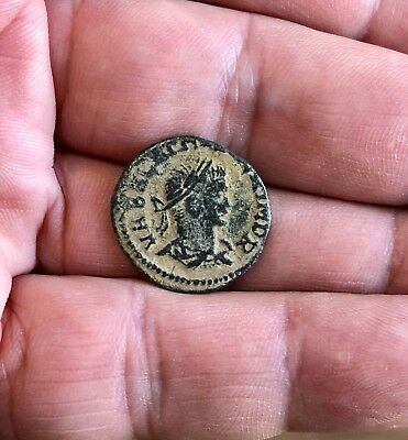 Rare Roman Bronze follis to be identified, with 2 Emperors. Very nice piece!
