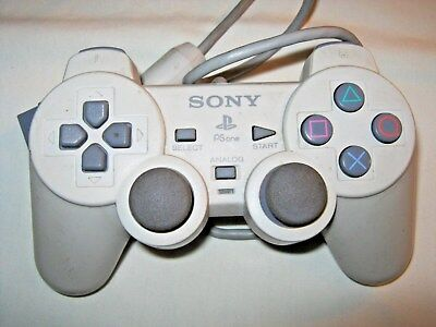 Genuine Official SONY PlayStation PS1 PSOne Dualshock Controller White SCPH-110