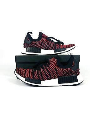 online retailer 32cd9 12069 ADIDAS NMD_R1 STLT Primeknit Shoes Core Black/Red Solid CQ2385 Men's