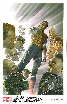 2015 SDCC Exclusive Marvel Litho - SPIDER-MAN HAND SIGNED by ALEX ROSS