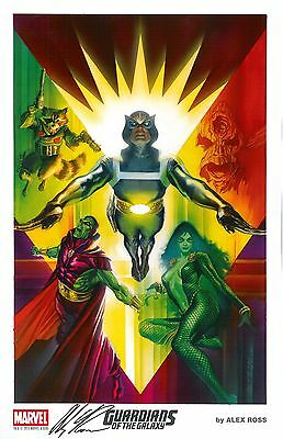 2015 SDCC Exclusive Marvel Litho - GUARDIANS OF THE GALAXY SIGNED by ALEX ROSS