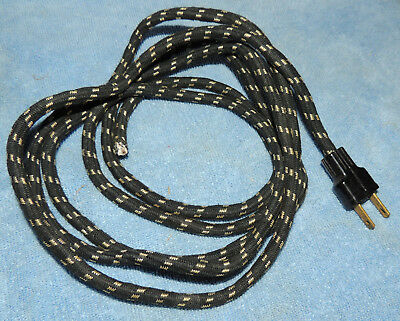 vintage cloth covered sewing machine power cord 2 prong hard to find for resto.