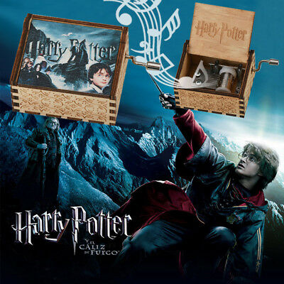 WR Harry Potter Music Box Colored Pictured Engraved Wooden Craft Gift Kid Toys