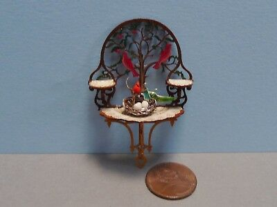 Dainty 1:12 Scale Ron Chase Laser Cut Christmas Cardinals Shelf