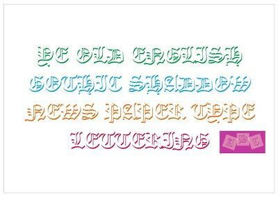 Ye Old English Letter Stencil Tiles or Sheet 3 Sizes 350 Micron Mylar FONT008