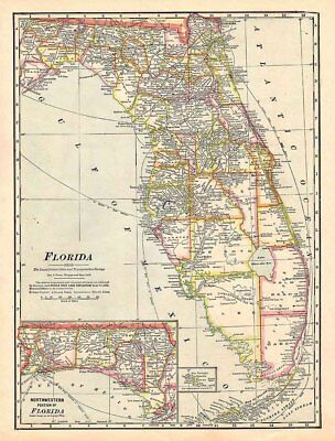 1911 Map of the State of Florida