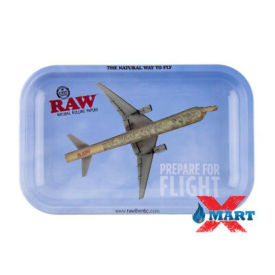 RAW Prepare for Flight Cigarette Tobacco Metal MEDIUM Rolling Tray 7x11