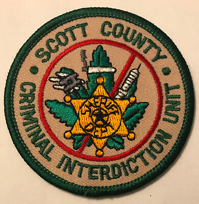 Scott County Criminal Interdiction Unit Drug Tennessee TN Police Sheriff Patch