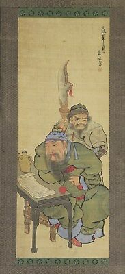 "Japanese antique scroll art painting ""Chinese general Guan Yu, E. Han dynasty"""