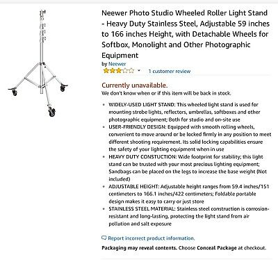 Neewer Heavy Duty Light Stand