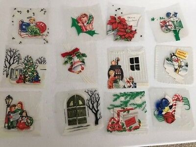 Vintage Jack Frost Christmas Cards See Through Vellum Lot Of 12 Unused Snowman