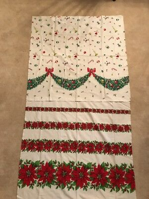 2 Vintage Christmas Apron Fabric Panels
