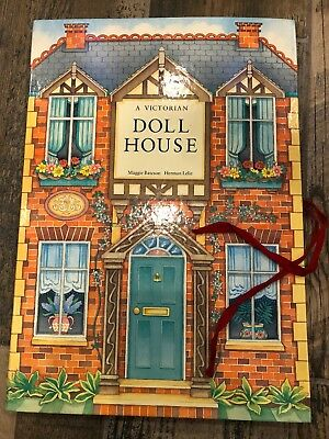 Victorian Dollhouse Book Pop Up Paper Engineered Free Standing Doll