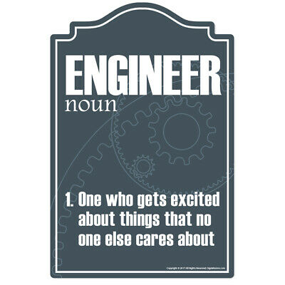 Engineer Novelty Sign   Funny Home Décor Garage Wall Lover Plastic Gag Gift