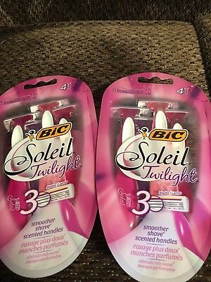 8 BIC Soleil Twilight 3 blade disposable razors - FREE SHIPPING - NEW