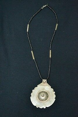 Ancient VIKING OLD Silver Bronze NECKLACE Pendant museum  ARTIFACT VERY AMAZING