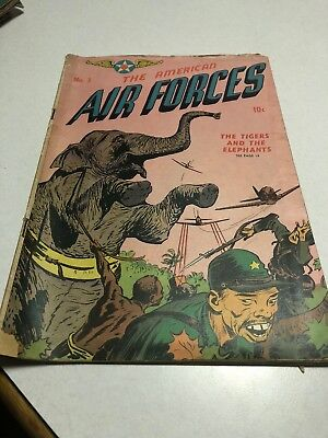 American Air Forces #3 William H Wise 1945 Golden Age War Comic Book
