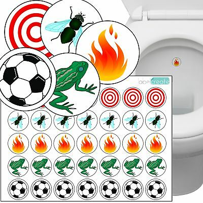 - Variety Pack of 35 Toilet Training Stickers. Superior Quality Transparent Plas