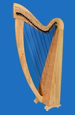 34 Strings Harp Lever Harp Celtic Harp Folk Harp With Deluxe Bag and Tunning Key