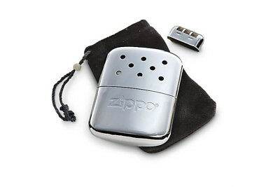 🔥Zippo 12 Hour Chrome Refillable Deluxe Hand Warmer Pocket + Warming Bag!🔥