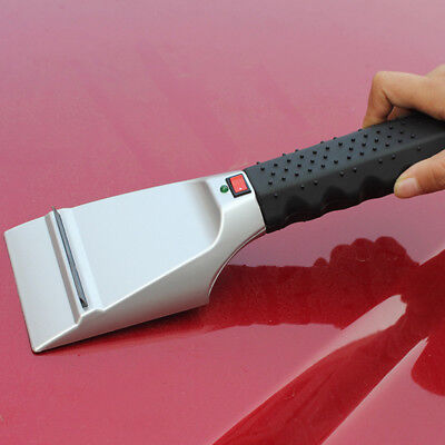 Heated Auto Electric Windshield Ice Scraper Shovel Snow Melter Removal Car MK1