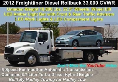 2012 FREIGHTLINER M2 Business Class Cummins Rollback Tow Truck with Wheel  Lift