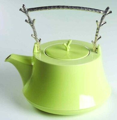 VILLEROY & BOCH 'THE VERT' TEAPOT, and TWO TEA CUPS (NEW WITH BOXES)