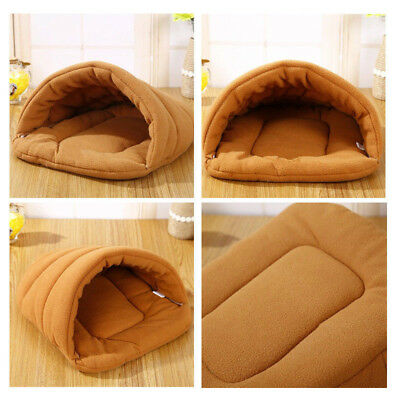 Soft Cozy Pet Cat Dog Puppy Nest Bed Warm Cave House Sleeping Bag Mat Pad Kennel