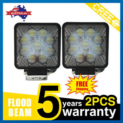 "2x 4"" 27W CREE LED Work Light Bar Spot Flood OffRoad Driving Reverse 4x4 Ford"