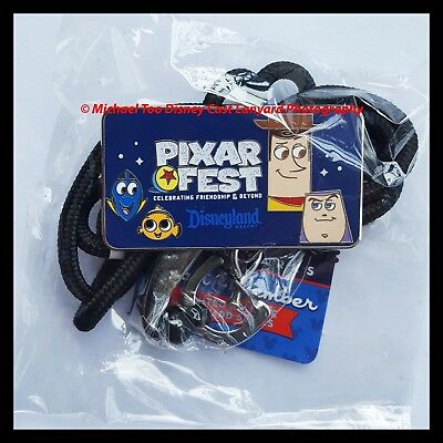 Disney Pixar Fest Cast Exclusive Limited Release Id Bolo Lanyard Pin Buzz Woody