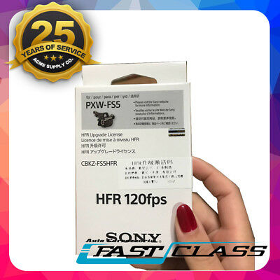 Genuine Sony CBKZ-FS5HFR 120FPS Upgrade Software Key For PXW FS5