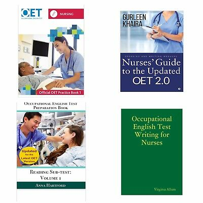 Occupational English Test 2.0 - 4 Nursing books in PDF + 2 complete free tests