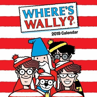 Where's Wally 2019 16-Month Square Wall Calendar by Browntrout (Free Postage)