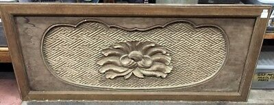 Japanese antique carved panel / plaque