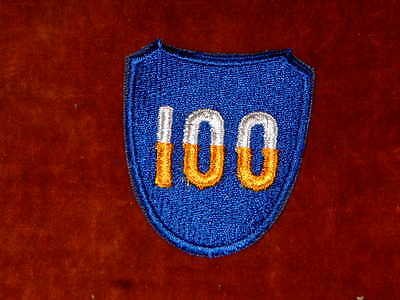 US Army 100th Infantry Division Shoulder Insignia Mint Genuine.