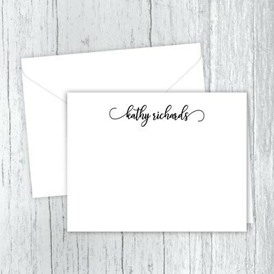 personalized note cards personalized stationery folded note cards - Personalized Folded Note Cards