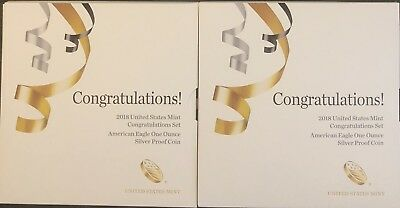 (2) 2018 CONGRATULATIONS SET, OGP, In EXCELLENT CONDITION, Only 19,267 Made