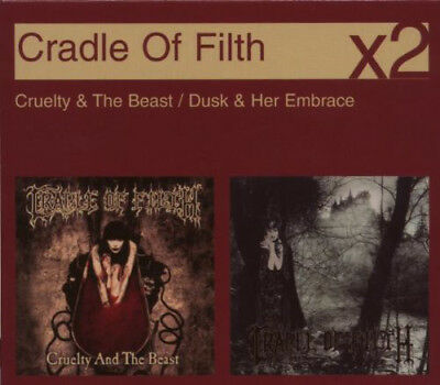 """CRADLE OF FILTH-""""Cruelty & The Beast/Dusk & Her Embrace""""-Black Metal 2CD-SEALED"""