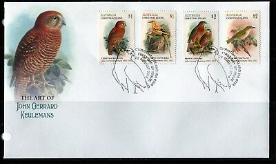 2018 Christmas Island Art Of John Gerrard Keulemans Set Of 4 First Day Cover New