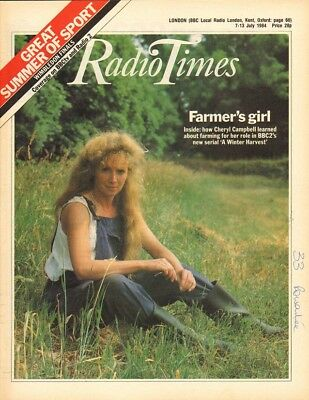 CHERYL CAMPBELL - Vintage UK RadioTimes Magazine July 1984 C#17