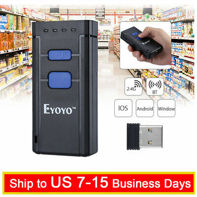 Eyoyo 1D Bluetooth4.0 Wireless Barcode Scanner Support Windows Android iOS