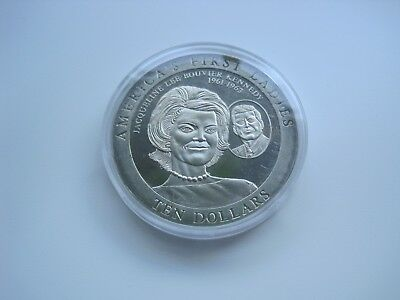 Liberia 2002 Ten Dollars Jacqueline Kennedy ,40mm, ca.28gr.   #1998