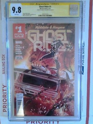 Marvel Now Ghost Rider #1 Cgc Ss 9.8 Signed By Marco Checchetto