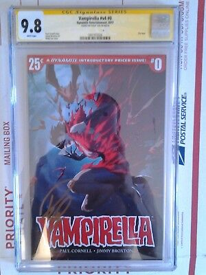 Dynamite Vampirella #0 Cgc Ss 9.8 Signed By Philip Tan 25 Cents Issue