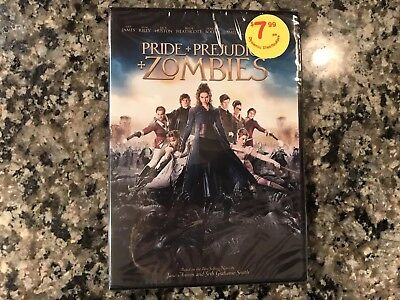 Pride Prejudice Zombie New Sealed Dvd! 2016 Action! See) Warm Bodies &Zombieland
